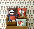 Magasin de commerce des animaux cadeau série couvre design cartoon panda belle éléphants. et chat, coussin fournisseur