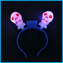Fashion flashing led lights halloween devil headband for halloween party