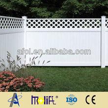 Safety and beautiful pvc lattice fence trellis