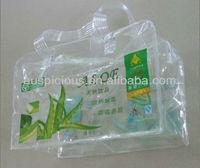 Promotional clear zipper PVC packaging bag