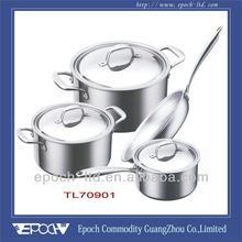7pcs/set of quality cookware brands with cast steel handle and knob TL70901