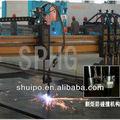 plasma del cnc y la llama de corte de la máquina