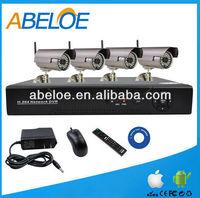 Cheap High Quality 4 pcsWireless Camera wifi 4ch NVR CCTV Kits