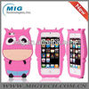 Hot selling soft and cute cow silicon animal phone case for iphone 5