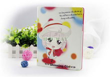 "Hot selling lovely shinning girl cartoon tablet leather case for IPad mini case Tablet PC 8"" inch"