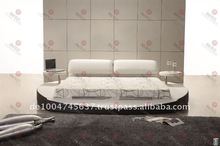 FUNCTIONAL LEATHER ROUND BED(PC48A#)