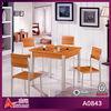 modern design 4 seat popular wood carved dining room tables