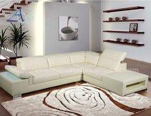 Mulitifunctional White Corner Leather Sofa