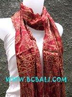 Silk Scarf Shawl Batik