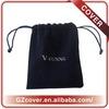 black mini canvas drawstring bag softly