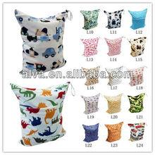 ALVA Reusable and Washable Minky Cloth Diaper Wet Bag