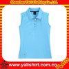 Top grade plain custom dri fit ladies sleeveless polo shirts wholesale