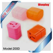 Special design like building block universal travel kit for business traveller/ world multi plug adapter(WP-200D)