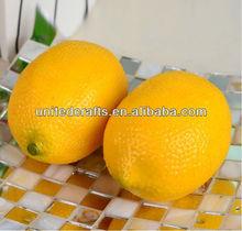 Plastic Decorative Fruit Artificial Citrus Lemons