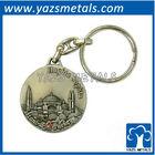 custom keychain, custom 3D places of interest metal keychain