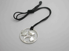 wholesale silver round pendant necklace for girls 2014 ,San Francisco necklace