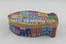 Christmas gift/fish shape /cookie tin box