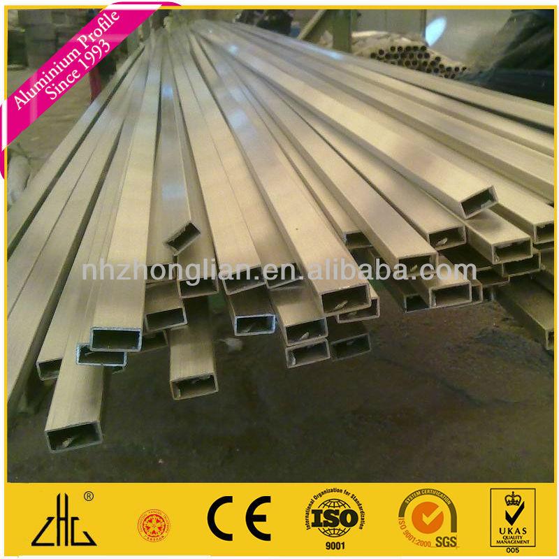 25x25mm tubi di alluminio profilo/tubo in alluminio anodizzato/oem dimensioni tubo di alluminio ...