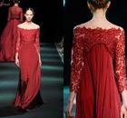 LEV-086 2013 Fall Fashion Long Sleeve Paris Evening Dresses By Designer Georges Hobeika