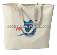 Something's Fishy Cat New Large Canvas Tote Bag Beach Shopping Bag