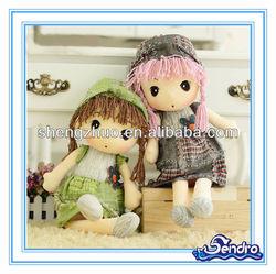 Plush soft Custom Peluche baby toy lovely girl doll