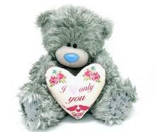 Tatty Plush Teddy Bear With heart shape cushion