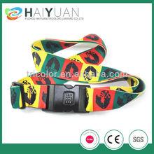 full color sublimation name branded luggage belts