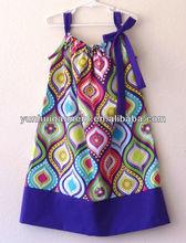 baby boutique wholesale cotton pillowcase fashions for simple dresses