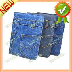 for iPad Mini Smart Cover PU Leather + Denim Case