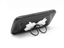 2013 latest product logo shape customized cell phone charm holders