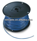 Copper conductor of flat wire for power supplying for TV, lighting, air architecture usage feeder cable