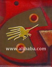 Genuine Nazca Lines, Traditionalist Peruvian Paintings, Lineas de Nazca, Bird