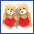 de la felpa animales de peluche de oso con corazón para el día de san valentín
