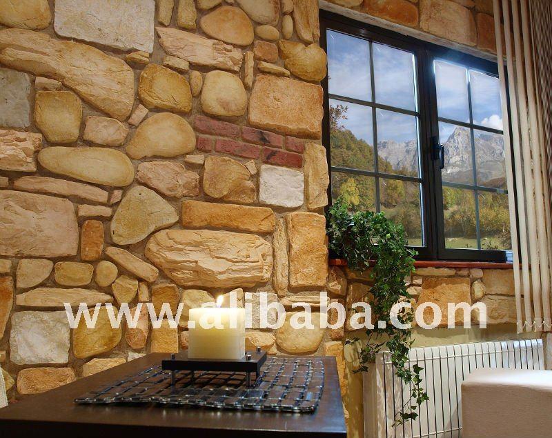 Decorar cuartos con manualidades piedra artificial para - Piedra artificial para interiores ...