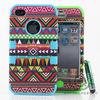 Shockproof mix color for i phone 4 back cover case