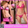 Wholesale Girls Hot Pink Sexy Fancy Bra Panty Set