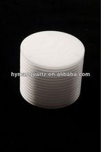 Milky quartz glass heat shield,clear quartz heat insulation,quartz glass ring