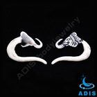 Snake and Dragon Shaped Ear Spiral Cuff Expander Piercing Jewelry
