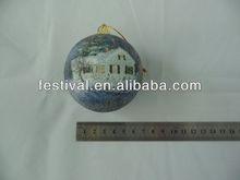 2014 new arrival Cheapest printing christmas ball,plastic christmas ball business chrtmas gt
