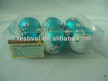 2014 new arrival Cheapest printing christmas ball,plastic christmas ball ceramic light moon