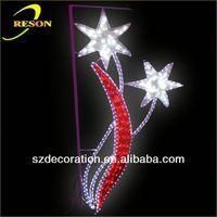 CE,ROHS RS-motif14 plastic glitter snowflake ornaments