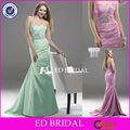 e089 elegante escote corazón cuentas pesado la longitud del piso las niñas formal vestido de fiesta