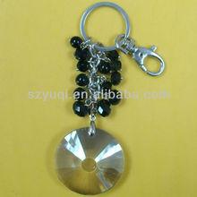 3d transparent circle key chain holders