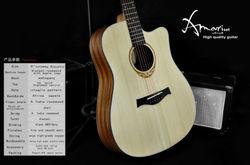 Amari cutaway Acoustic guitar AM-4188C ,musical instrument bag