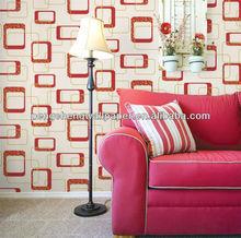 Fashion decorative Latest modern design geometric wallpaper in china