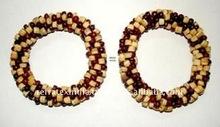 Beaded Napkin Ring NR293 Wooden Beads
