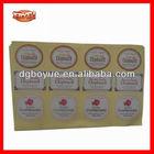 Printing High Quality Custom Adhesive Logo Stickers,PVC Sticker Sheets
