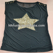 2013 oversea popular ladies custom made t-shirt