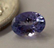 T26 Genuine tanzanite oval cut loose gem stone approx. 0.90 ct. oval gem stone