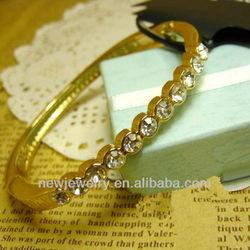 High Quality Retro Gold Plated Metal Bracelet Bangle Energy